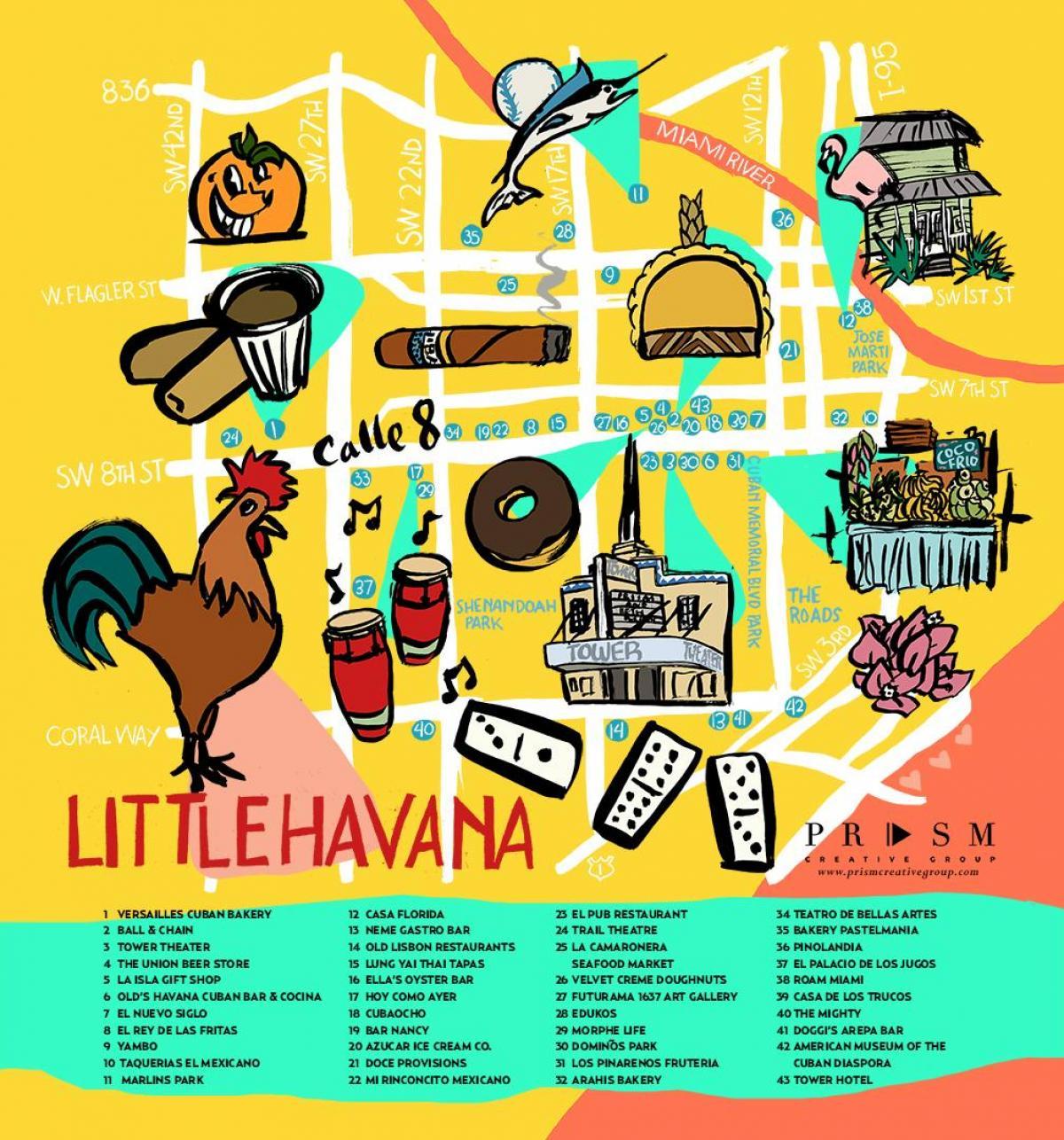 havana kart Little havanna i Miami kart   Miami Little havana kart (Florida   USA) havana kart